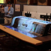 LG debuts giant flexible display screen