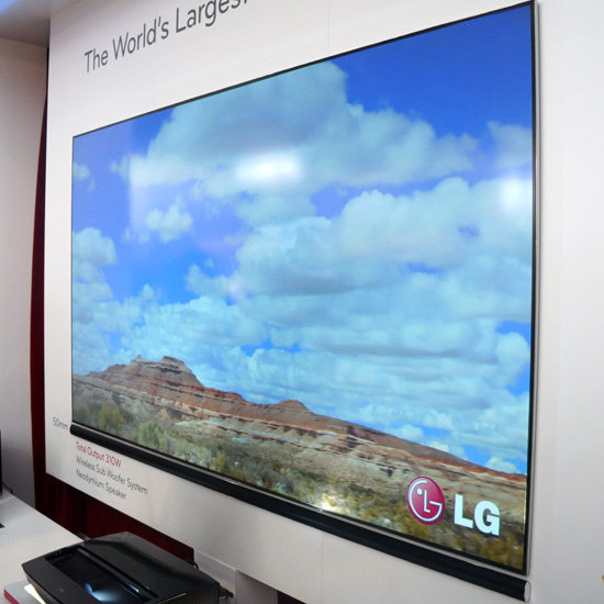 lg launching 100 inch laser tv in april. Black Bedroom Furniture Sets. Home Design Ideas