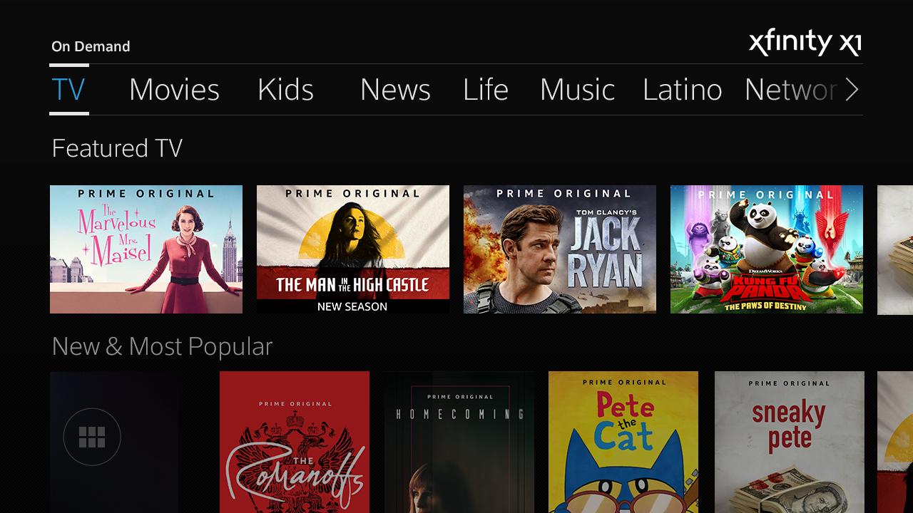 Amazon Prime Video On Comcast Xfinity X1